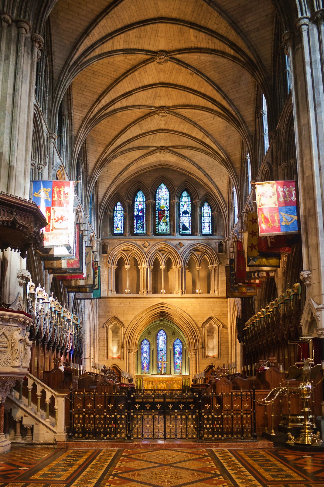 St. Patrick's Cathedral Choir as seen from the Nave. Credit Andreas F. Borchert
