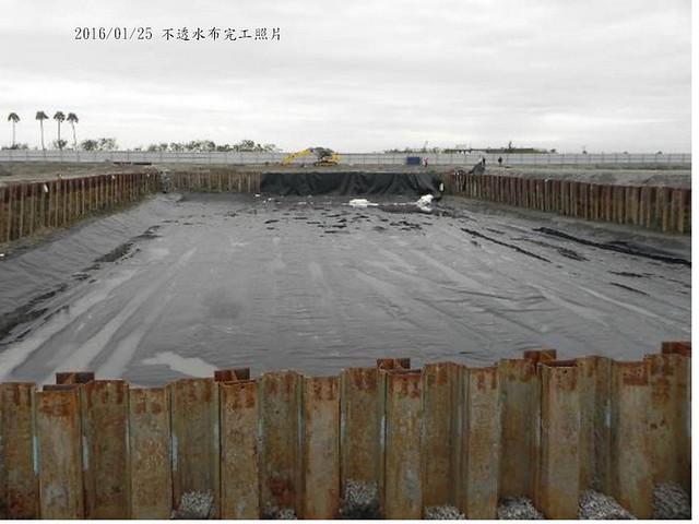 2016/2/15 混凝土隔離層完工。圖片來源:成功大學提供。