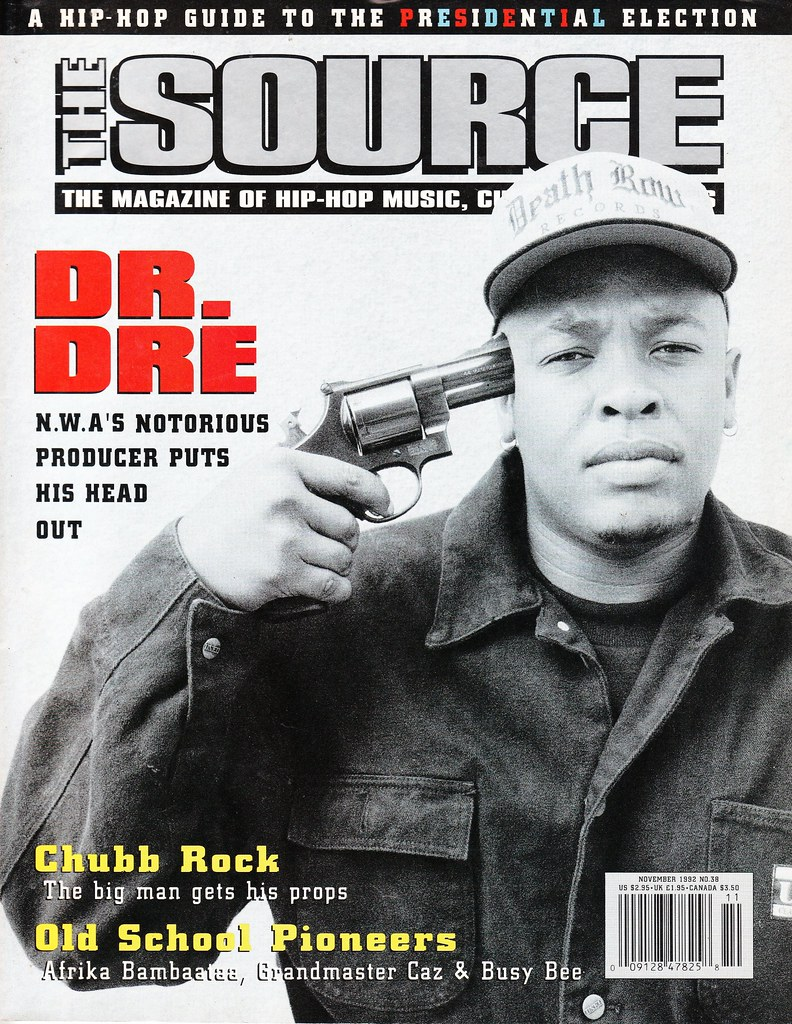 Dr Dre in The Source cover