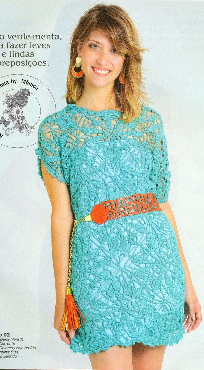 1ebefb918a39f Et voici les diagrammes gratuits de cette robe au crochet