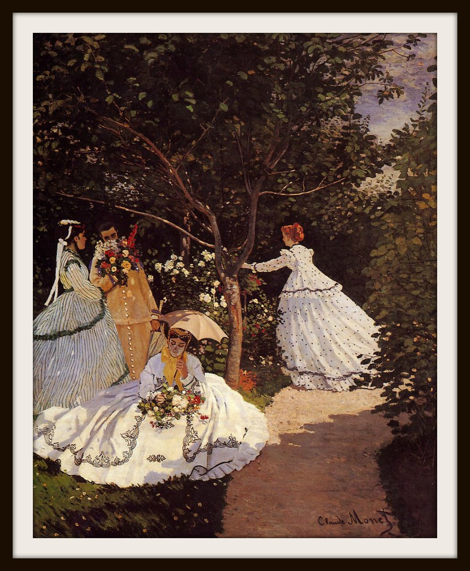 Women in the Garden by Claude Oscar Monet, 1867 (100 in x 81 in)