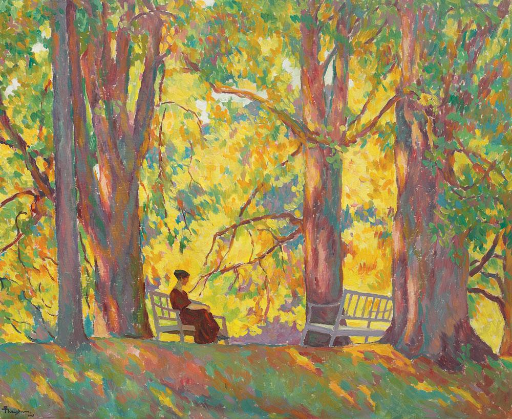 Woman in the Park by Ion Theodorescu-Sion, 1919