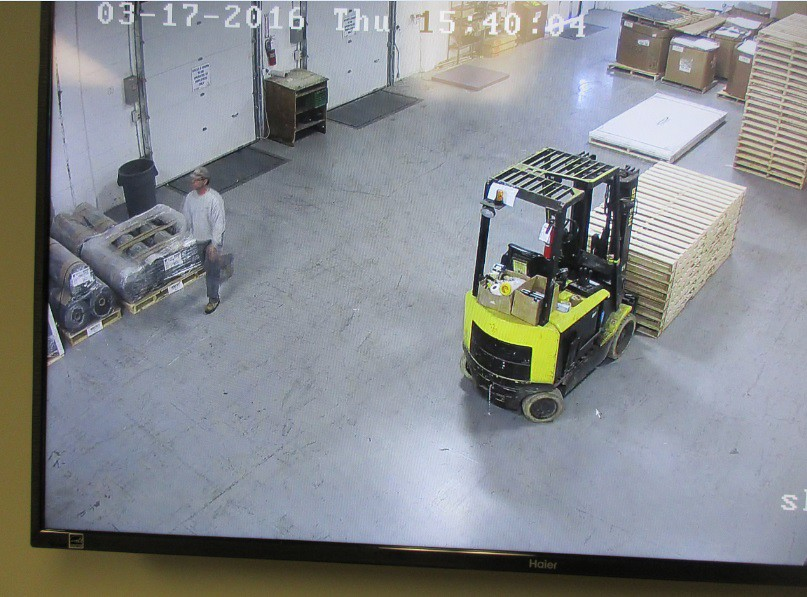 monitoring garage door in shipping recieving dept