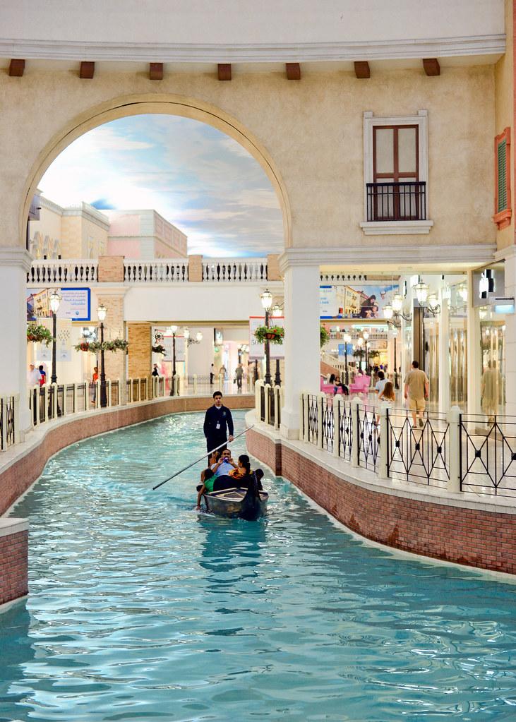 Canales con góndolas del Villaggio de Doha
