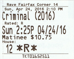 Criminal ticketstub