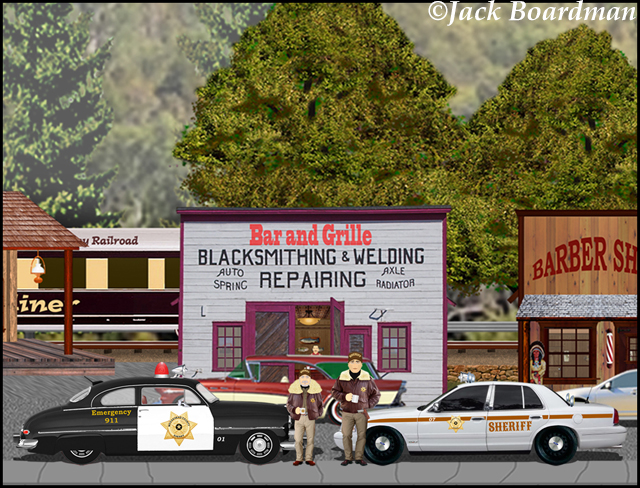 Sheriff Boomer found the situation handled ©Jack Boardman