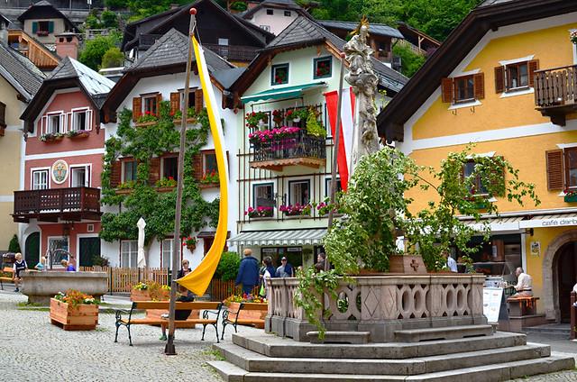 Market square, Hallstatt, Austria