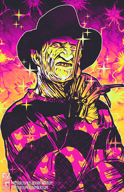 Neon Horror - Freddy Krueger - A Nightmare on Elm Street by RetkiKosmos