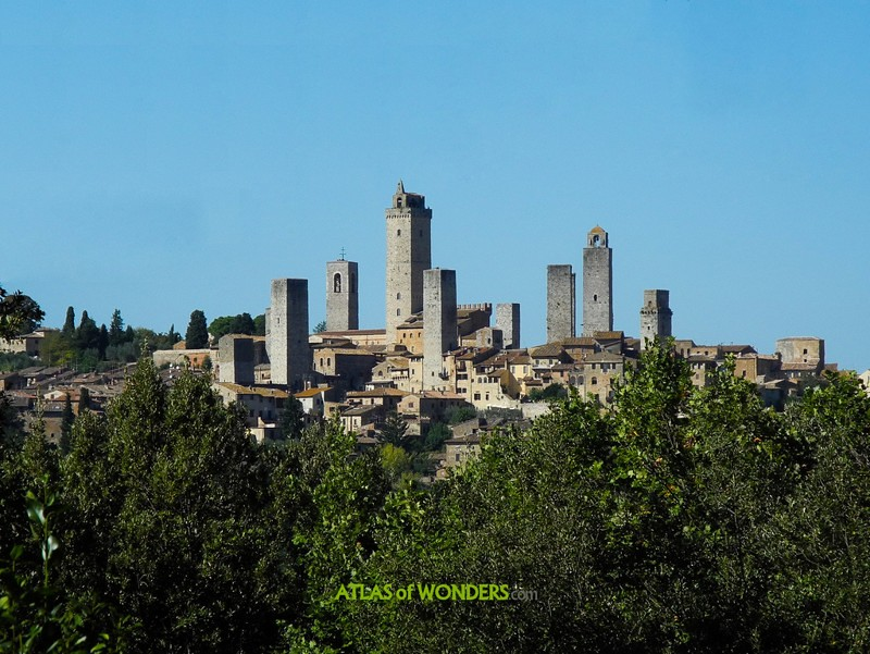 Skyscrapers in Tuscany