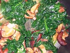 Garlic spinach mushrooms