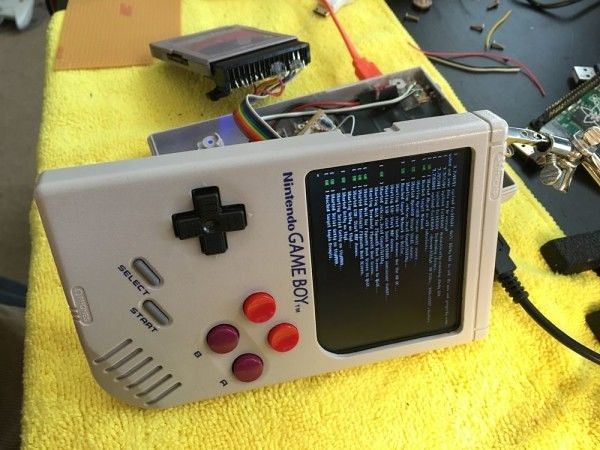 Raspberry pie, plus abroad up refitting Game Boy