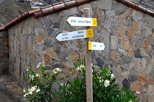 Walking signpost, Anaga Mountains