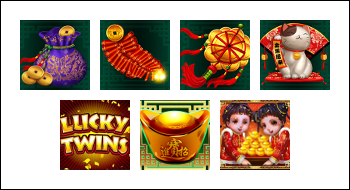 free Lucky Twins slot game symbols