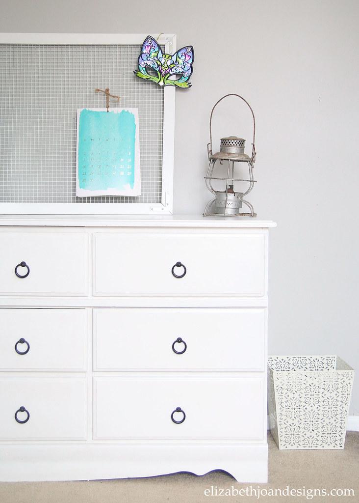 White Dresser Drop Pulls