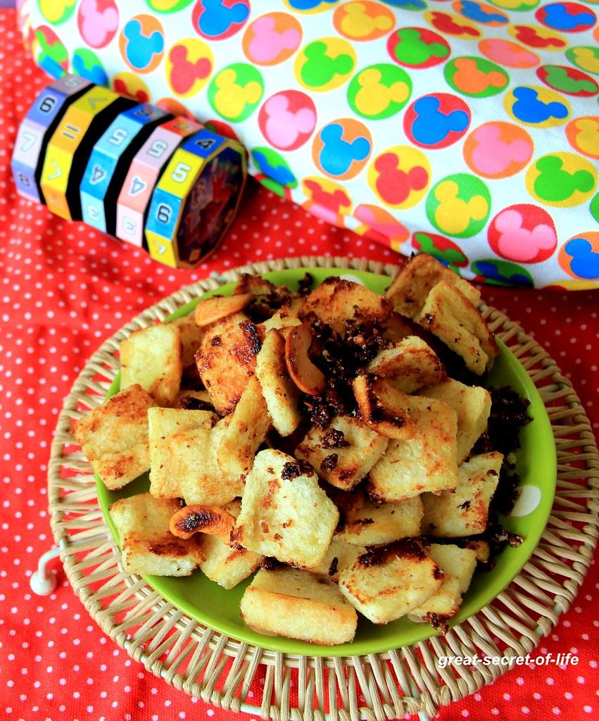 Sweet Bread Snack recipe - Caramelized bread snack recipe - Kids friendly snack recipe