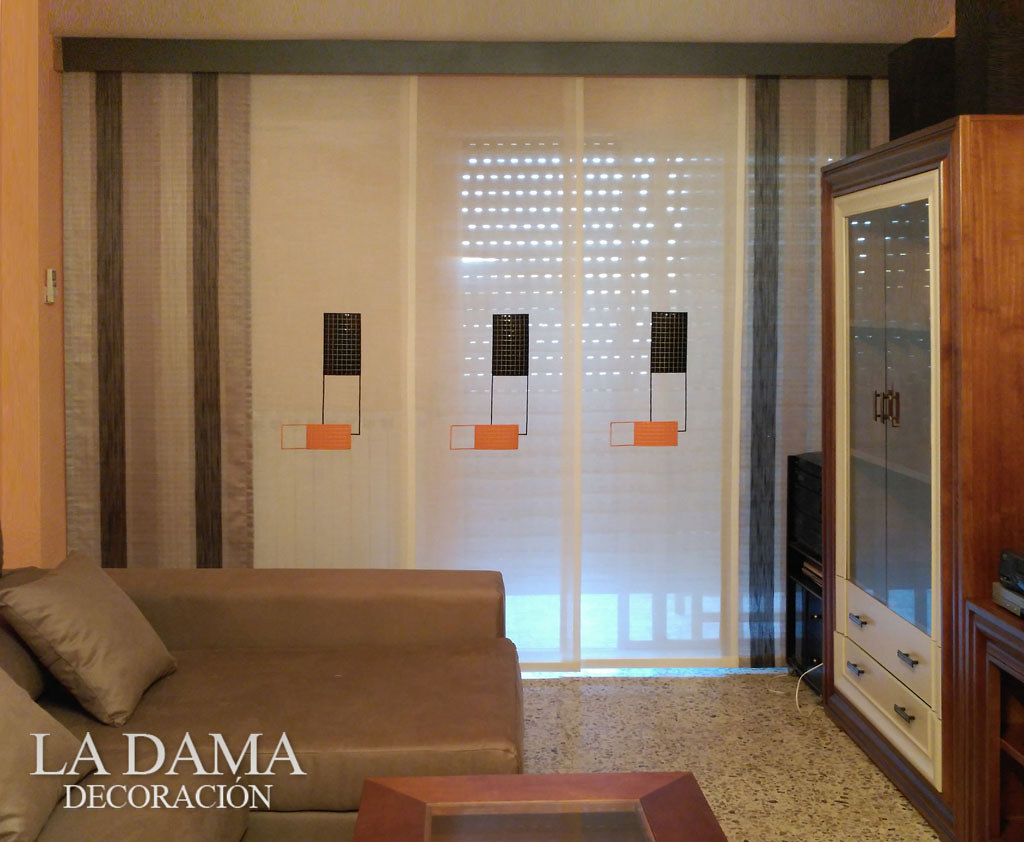 Panel japon s para sal n cl sico paneles japoneses en la - Panel japones salon ...