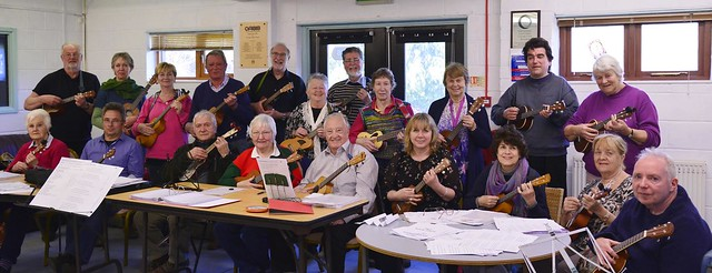 U3A Ukulele Group  in the Community Center
