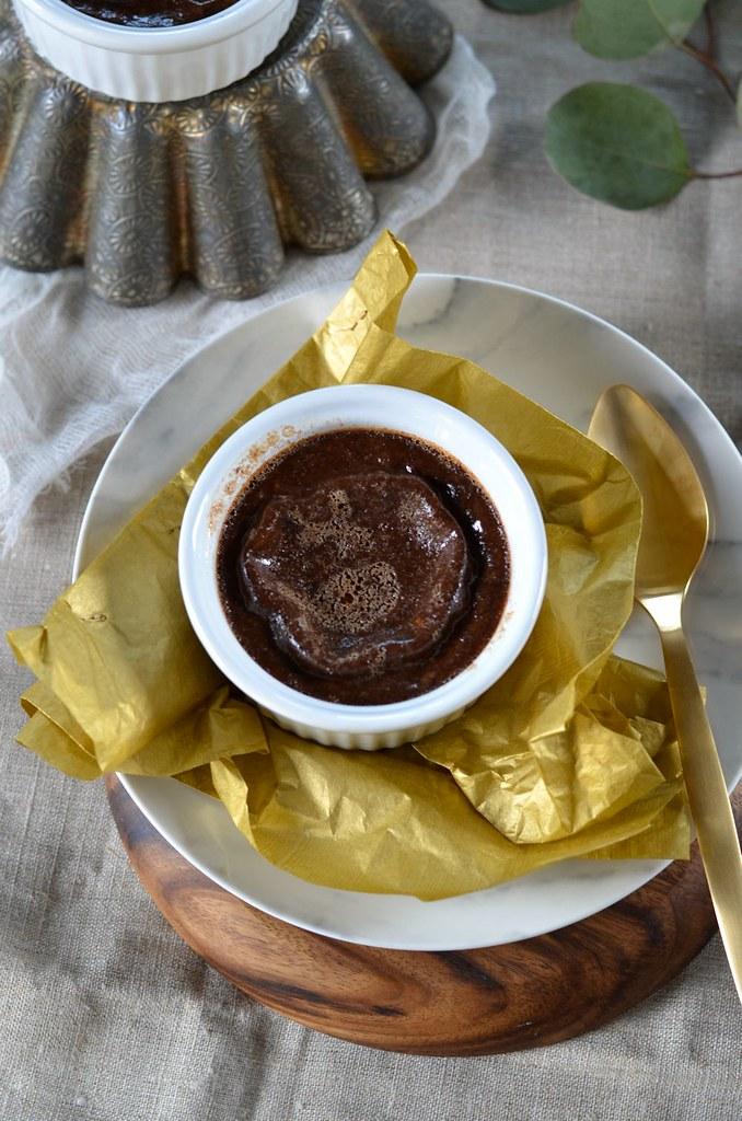 Flan aux oeufs au chocolat