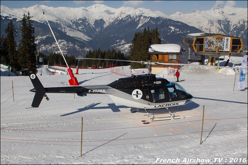 Bell 206-B3 JetRanger III - F-HUBA, Salon Hélicoptère à Courchevel 2016, Meeting Aerien 2016