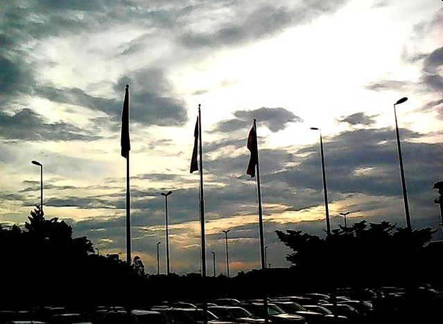 Sunset at Sibu airport