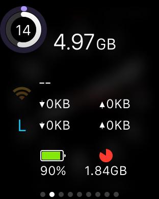 120円→0円、iPhoneのデータ通信量・電池残量などをApple Watchで確認できる「MiniStats」