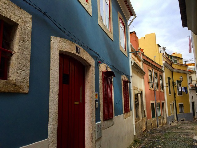 Calle de Mouraria en Lisboa