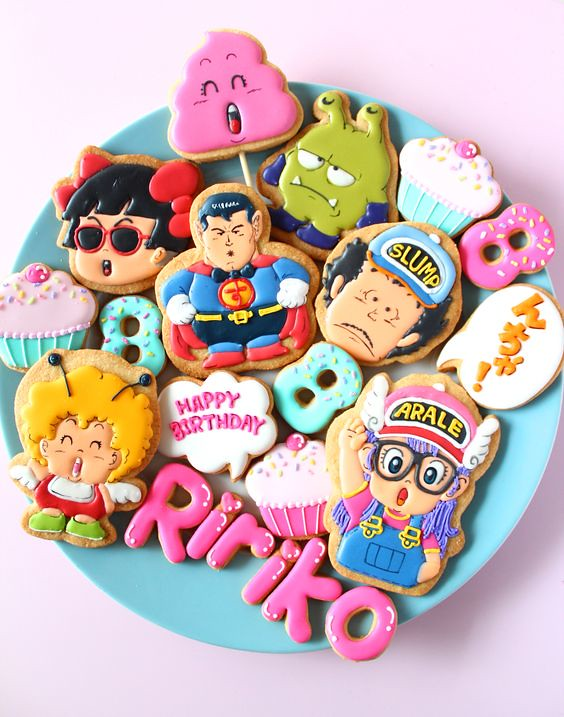 Dr. Slump icing cookies by Y&Csweets