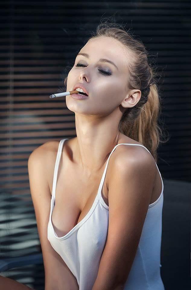 Sexy women smoking naked