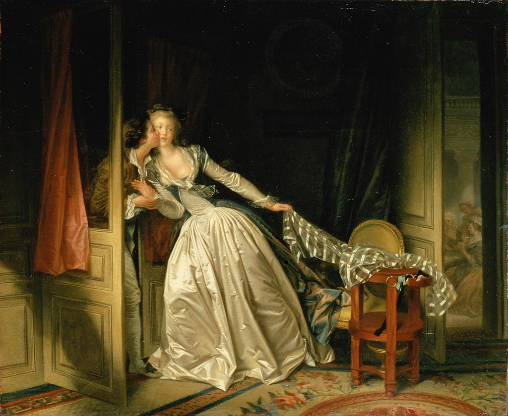 The Stolen Kiss by Jean-Honore Fragonard - c.1789.