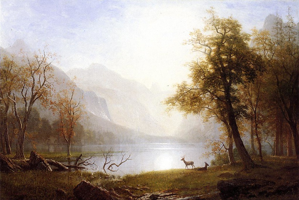 Valley in Kings Canyon by Albert Bierstadt (1830 - 1902)