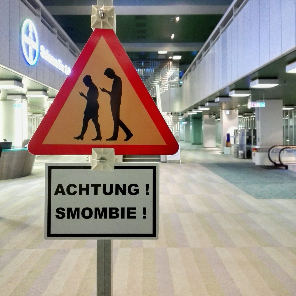 Caution Smombie Sign In Company Lobby Who Says