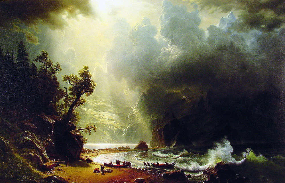 Puget Sound on the Pacific Coast by Albert Bierstadt, 1870