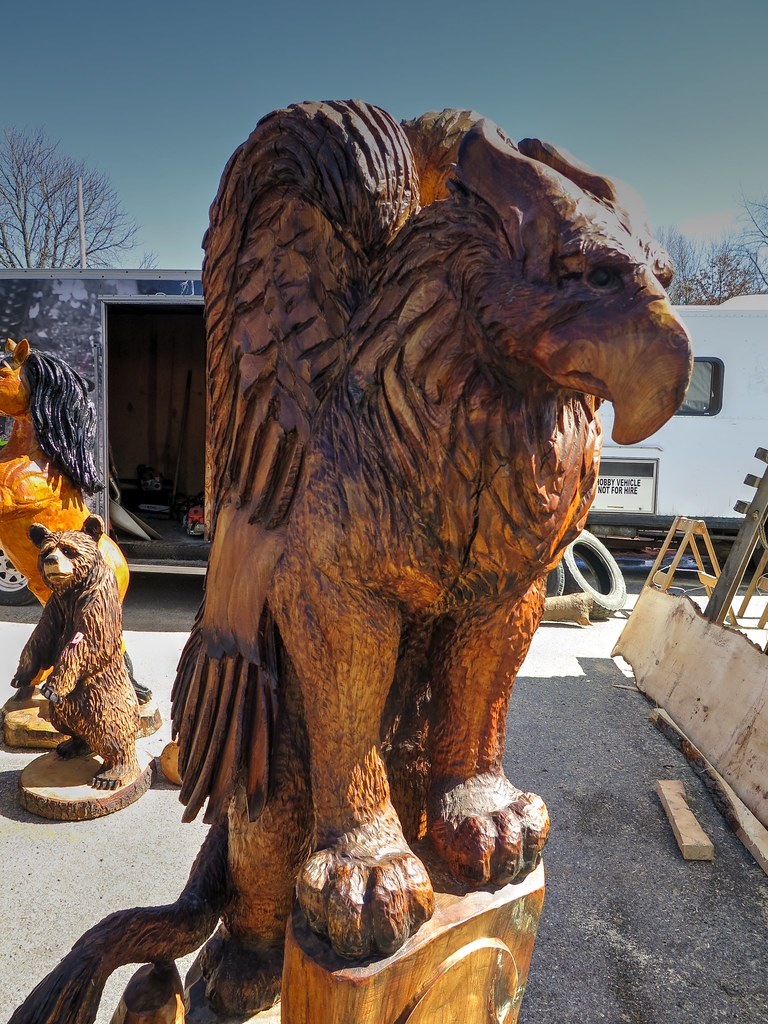Chainsaw carving by nate at ridgway pa carvers