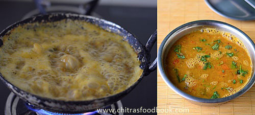 Idli Sambar with toor dal