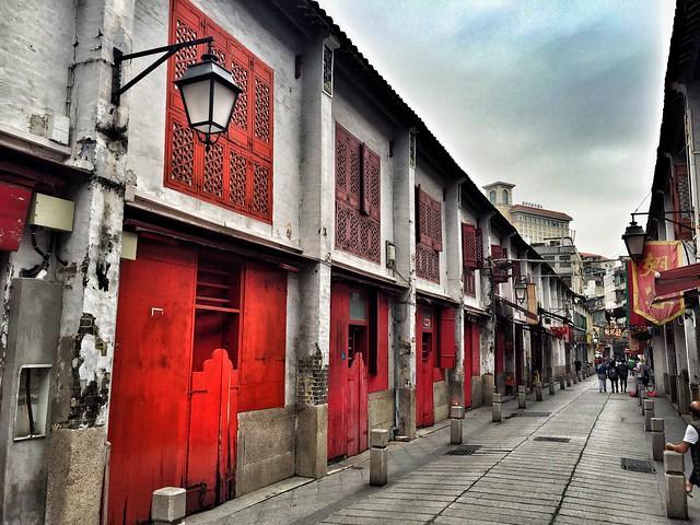 Rúa da Felicidade en Macao