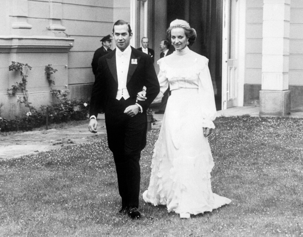 prince and princess michael of kent on their wedding day