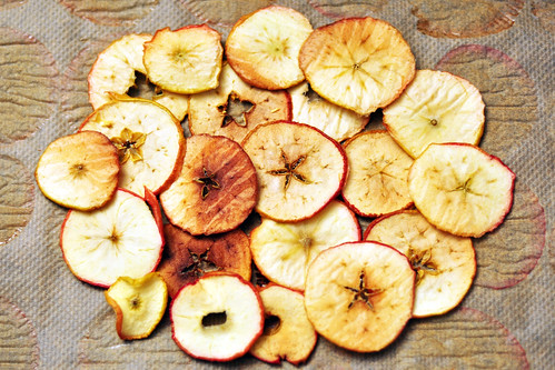 Apfel Äpfel Bio-Äpfel Chips Apfelchips selber machen Backofen dörren rösten knusprig fruchtig gesund naschen Rezept Foto Brigitte Stolle 2016