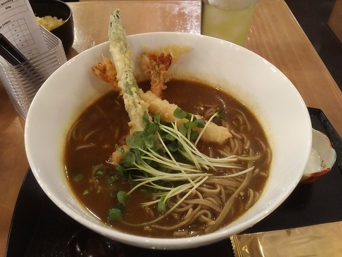 Curry Soba with Tempura
