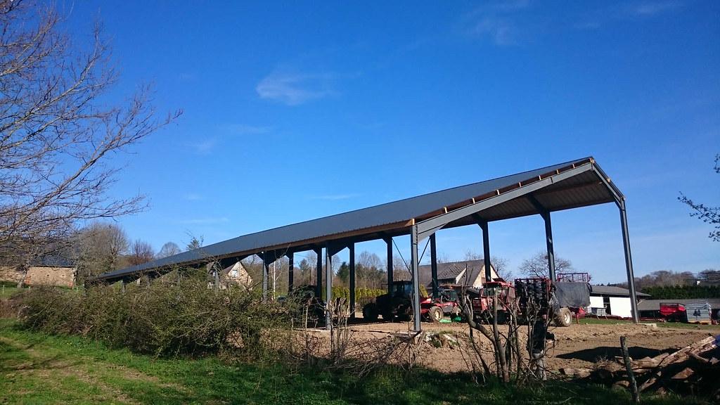 R4 hangar agricole photovolta que mise en place en corr ze flickr - Hangar photovoltaique agricole ...