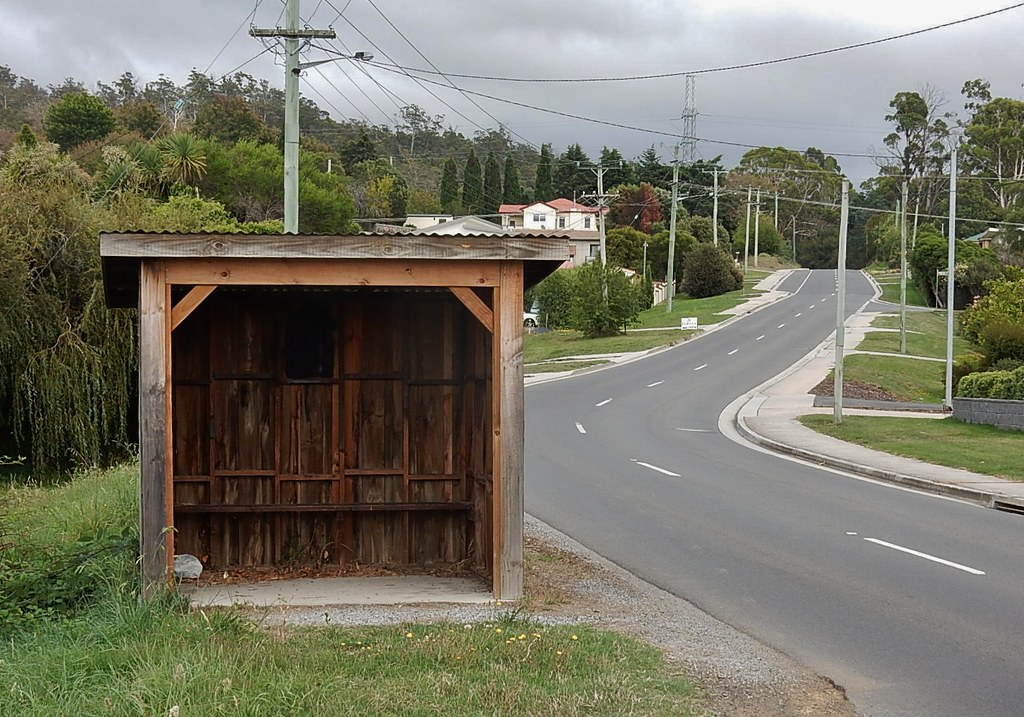 Wood Bus Shelter : Wooden bus shelter michael coghlan flickr