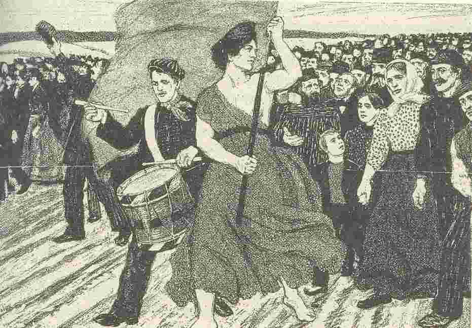 女性與五一,1892年五一海報