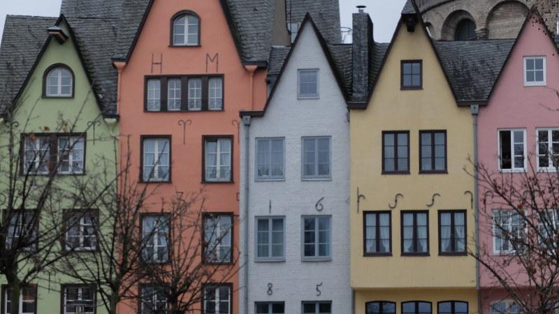 Casas coloridas en Colonia