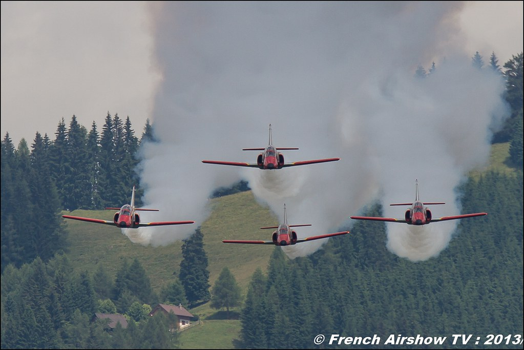Patrulla Águila aerobatic display team ,patrouille Águila at Airpower zeltweg 2013
