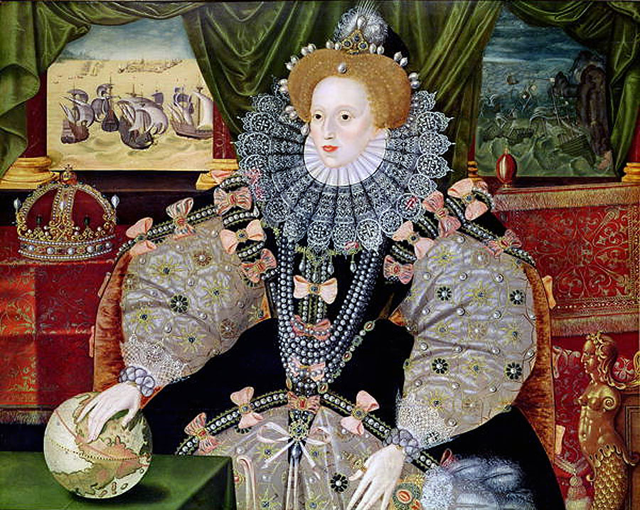 Portrait of Elizabeth I of England, the Armada Portrait by an anonymous artist
