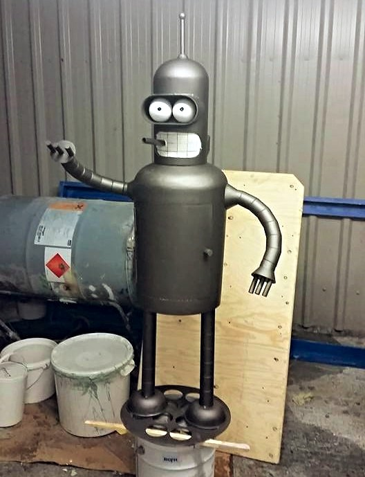 Futurama Bender Chiminea by BC Bespoked