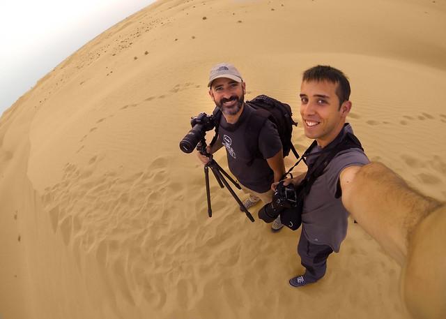 Fotografía GoPro en las dunas del desierto de Abu Dhabi