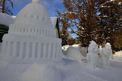 The 2016 U.S. Capitol Christmas Tree snow sculpture