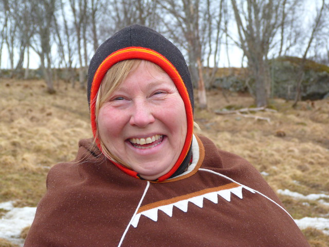 Laila, mujer Sami de las Vesteralen en Laponia Noruega