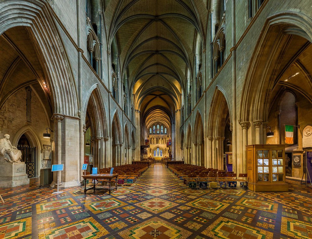 St Patrick's Cathedral Nave, Dublin, Ireland. Credit David Iliff