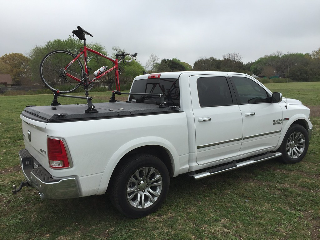 A Truck Bed Cover Amp Bike Rack On A Dodge Ram Thomas B